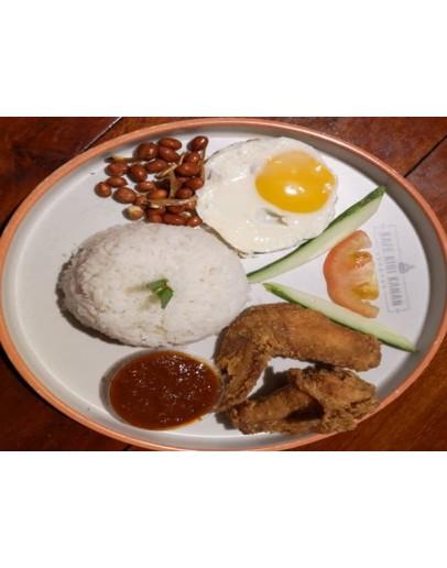 Set 4 (Nasi Lemak Ayam Goreng + Teh o Ais)