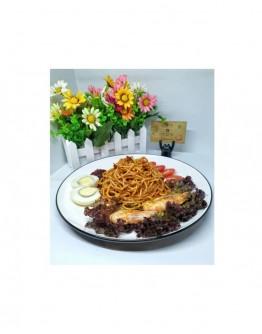 Nasi Lemak Spaghetti with Prawn