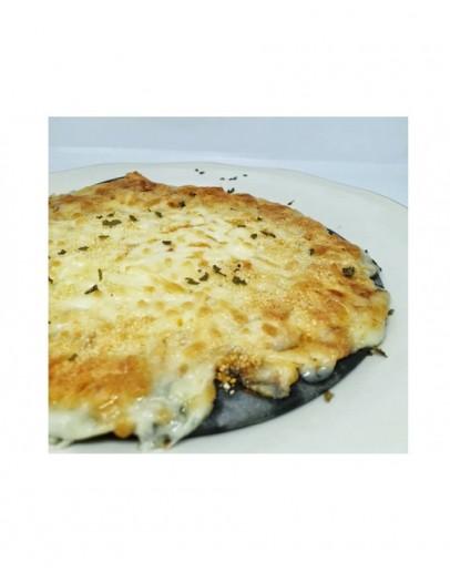 Otak-otak pizza , Sauteed Mushroom pizza and Triple Cheese Pizza (Vagetarian)