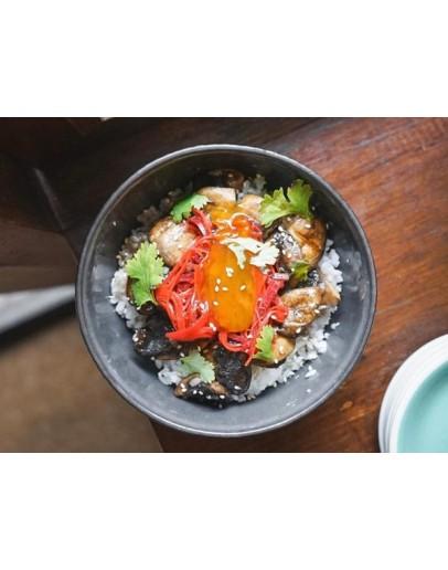 Button Mushroom Rice (Vegetarian)