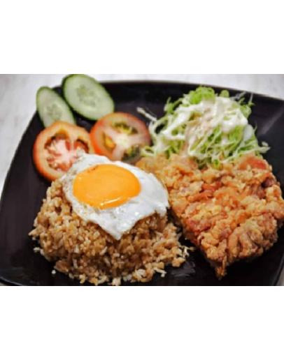 Chicken Chop Rice 鸡排飯