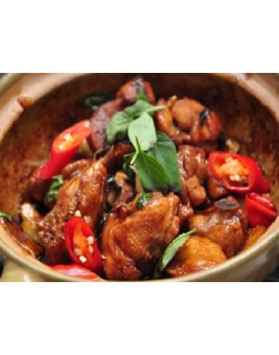 Claypot Chicken Rice 砂锅三杯鸡