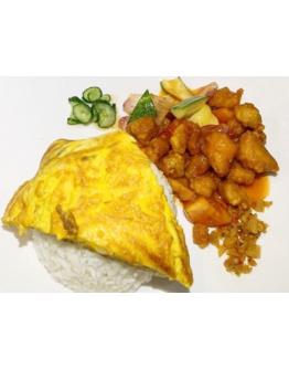 Sweet & Sour Chicken/Fish Rice 糖醋鷄丁 / 魚片飯